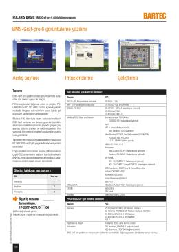 Çalıştırma Projelendirme Açılış sayfası BMS-Graf-pro 6