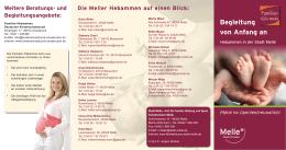Familienbüro Melle - Faltblatt Hebammen