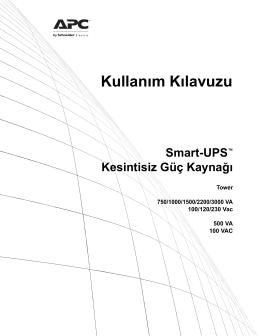 Kullanım Kılavuzu Smart-UPS™ Kesintisiz Güç Kaynağı