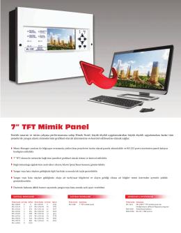 "7"" TFT Mimik Panel"