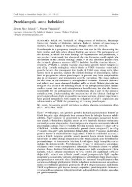 Preeklamptik anne bebekleri - Çocuk Sağlığı ve Hastalıkları Dergisi