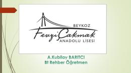 PowerPoint Sunusu - Fevzi Çakmak Anadolu Lisesi