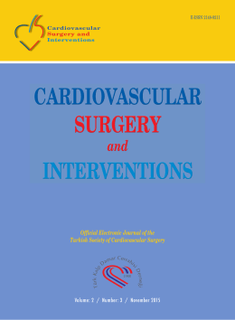 Official Electronic Journal of the Turkish Society of Cardiovascular