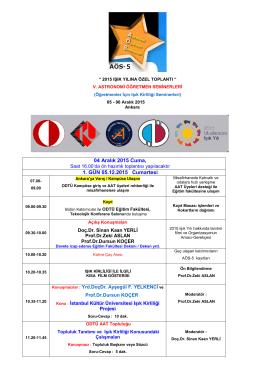 kazdağları bilim ve doğa eğitimi 2015 etkinlik programı