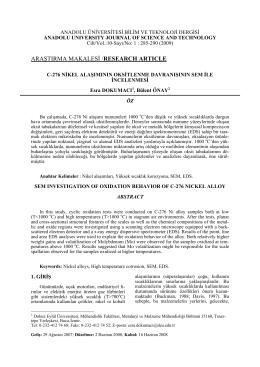 C-276 Nikel Alaşımının Oksitklenme Davranışının SEM İle İncelenmesi