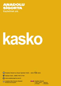 Kasko Kitapçığı - Anadolu Sigorta