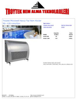 Troytek Microwell Havuz Tipi Nem Alıcılar 90—120 Litre/Gün