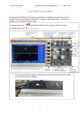 osiloskop kullanımı - Elektrik