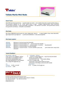 Tellabs Martis Mini Node - INTENET İletişim Teknolojileri