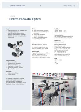 E-PN_K10 - Elektro Pnömatik Eğitimi
