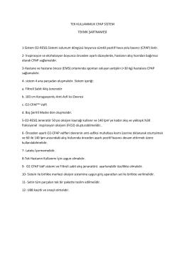 CPAP Teknik Şartname