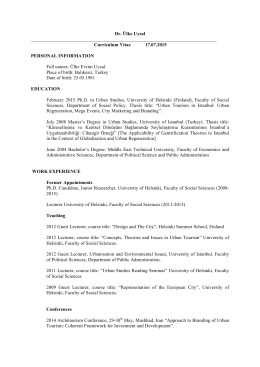 Dr. Ülke Uysal Curriculum Vitae 17.07.2015
