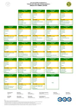 aralık ayı yemek listesi