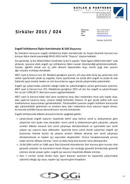 Sirküler 2015 / 024