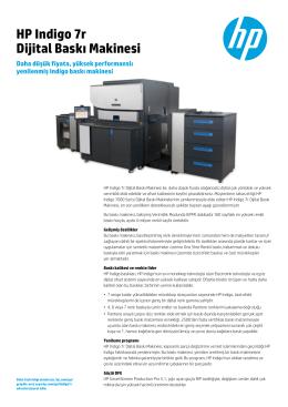 HP Indigo 7r Dijital Baskı Makinesi