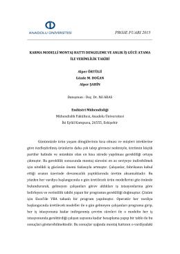 Endüstri Mühendisliği - Anadolu Üniversitesi