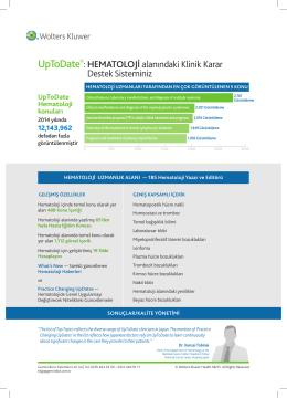 UpToDate Hematoloji Broşürü