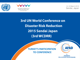 Participation of Turkey in 3rd.WCDRR (detailed)