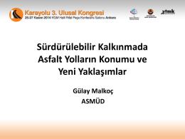 4. Gülay MALKOÇ - Karayolu 3. Ulusal Kongresi