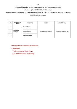 t .c. yükseköğretim kurulu başkanlığı`nın web sayfasında 26.08.2015