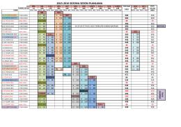2015 - 2016 sezon planlamasını görmek için tıklayınız