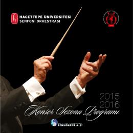 Konser Sezonu Programı - Hacettepe Üniversitesi Ankara Devlet