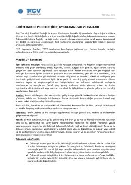 ITEP Uygulama Esaslari - Mart 2015
