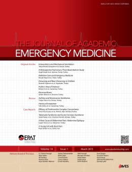 Eurasian Journal of Emergency Medicine
