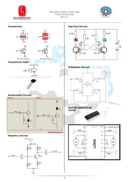 Hacettepe Robot Topluluğu Temel Elektronik Ders 2 Transistörler