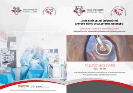 13 Şubat 2015 Cuma - İzmir Katip Çelebi Üniversitesi