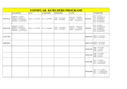 okulumuz kurs proğramı 23.11.2015