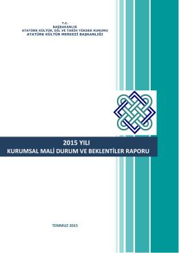 2015 YILI - Atatürk Kültür Merkezi