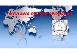 mevlana değişim programı - Bülent Ecevit Üniversitesi