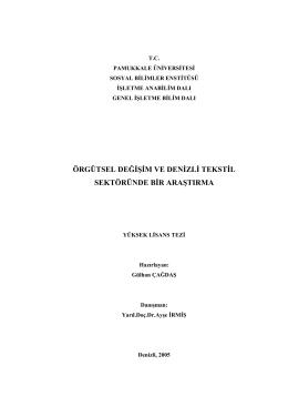 örgütsel değ ş m ve den zl tekst l sektöründe br araştırma