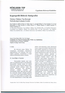Kaptoprilli Böbrek Sintigrafisi