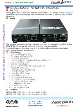2 Hat Telefon - Fiber Optik Çevirici & Mesafe Uzatma
