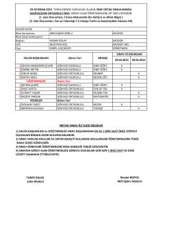 Liste için tıklayınız... - Hasköy İlçe Milli Eğitim Müdürlüğü