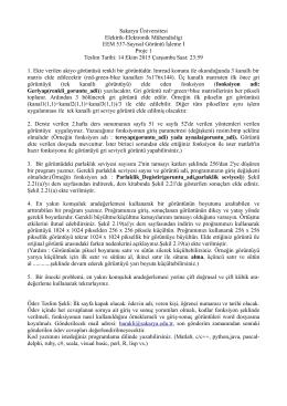 Sakarya Üniversitesi Elektrik-Elektronik Mühendisligi EEM 537