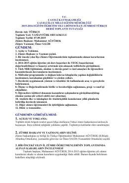 GÜNDEM: - Çayeli İlçe Milli Eğitim Müdürlüğü