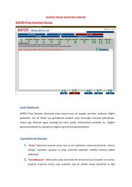 BAPSİS Proje Detayları Ekranı - BAP Bilimsel Araştırma Projeleri