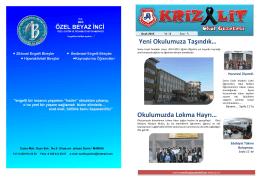 Ocak 2015 Sayısı - Soma Linyit Anadolu Lisesi