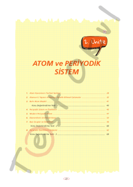 ATOM ve PERİYODİK SİSTEM - Your Pocket Library