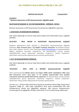 FK YEMİNLİ MALİ MÜŞAVİRLİK LTD. ŞTİ.