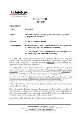 SİRKÜLER 2015/53 - Sena Yeminli Mali Müşavirlik Limited Şirketi