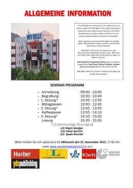 ALLGEMEINE INFORMATION - mev koleji özel okulları