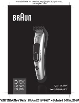 www.braun.com HC 5090 HC 5050 HC 5030 HC 5010
