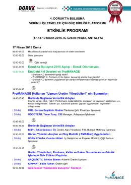 etkinlik programı