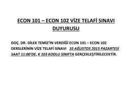 econ 101 – econ 102 vize telafi sınavı duyurusu