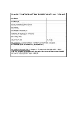 02 temmuz 2015 tarihli sgk itiraz komisyon raporu için tıklayınız