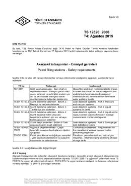 TS 12820: 2006 T4: Ağustos 2015